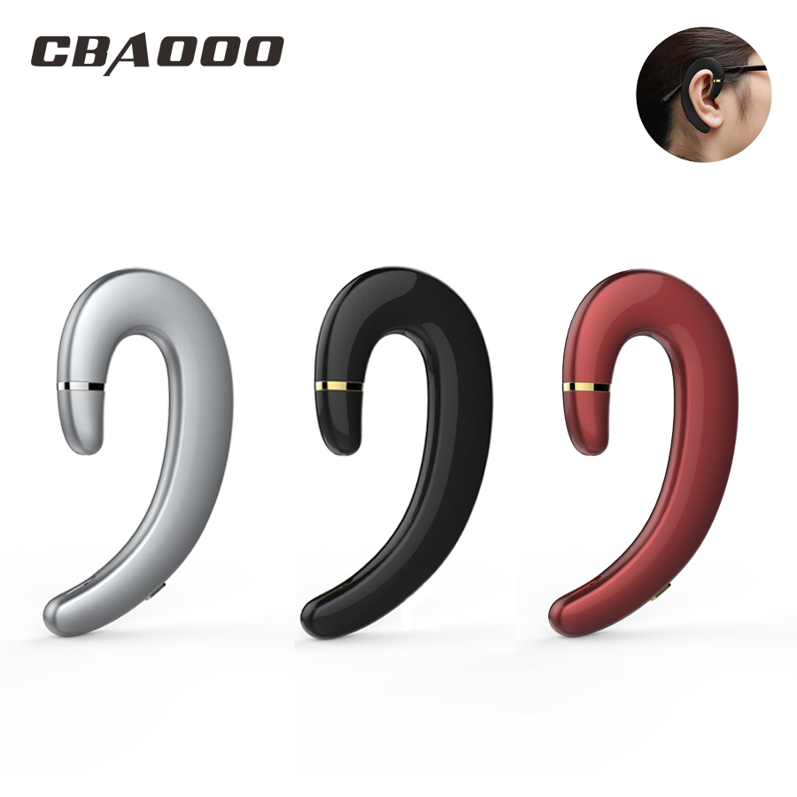 CBAOOO Bluetooth אוזניות אלחוטי אוזניות דיבורית אוזן וו עמיד למים הפחתת רעש עם מיקרופון עבור אנדרואיד iPhone