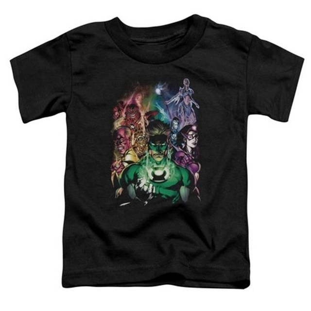 Trevco Green Lantern-The New Guardians Short Sleeve Toddler Tee Black – Small 2T