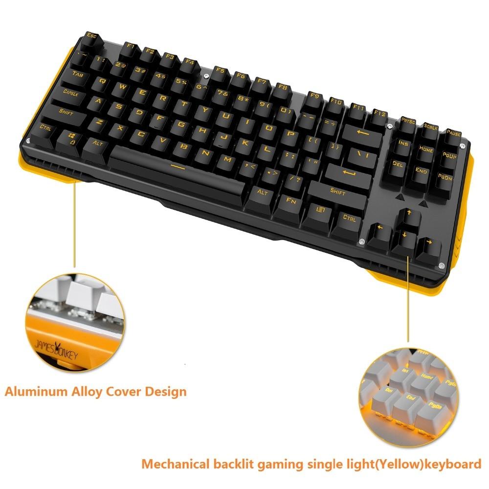 """87Keys Mechaninė žaidimų klaviatūra su """"Gateron Switch"""" - Kompiuterių periferiniai įrenginiai - Nuotrauka 2"""