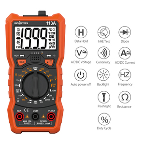 RM113D Auto Ranging NCV Digital Multimeter 6000 counts AC/DC voltage meter Flash light Back light Large Screen 113A(China)