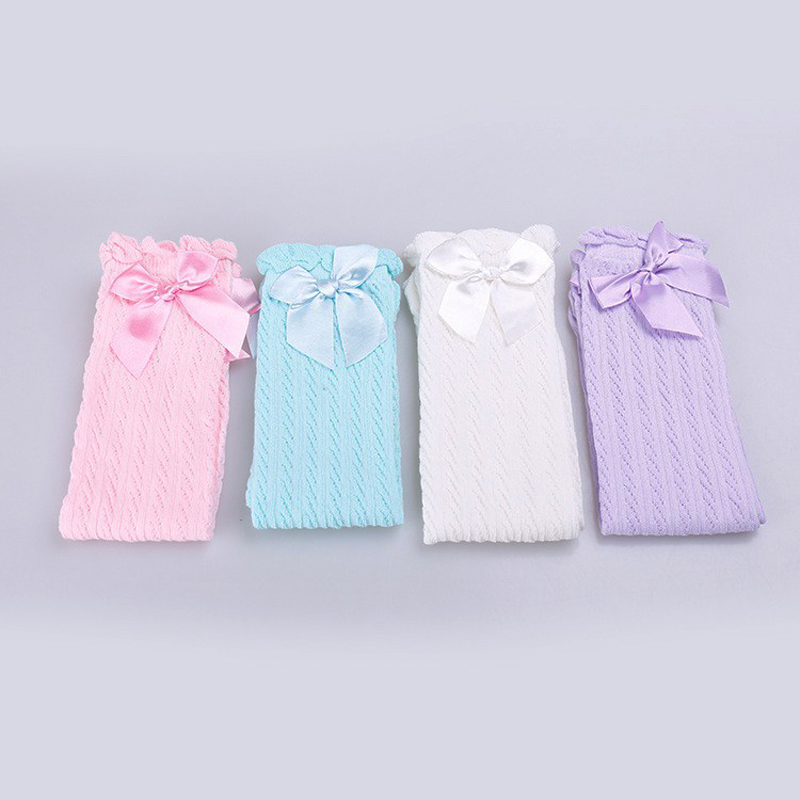 Baby-Girls-Knee-High-Socks-Kids-Children-Cute-Lace-Bows-Princess-leg-Warmers-Solid-Cotton-Girl-Long-Tube-White-Socks-1-6years-3