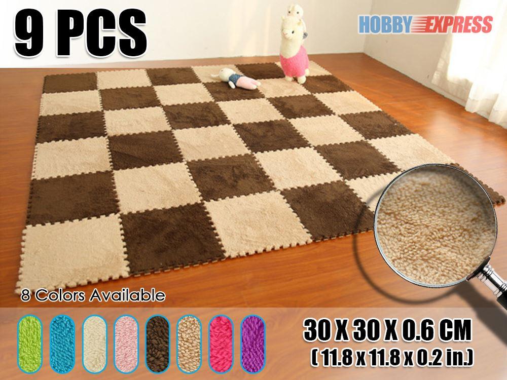 Nuovo pz soffice pelliccia incastro tappeti per bambini bambino