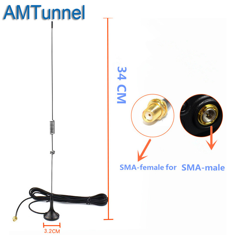 Vhf antenne de base UT-106UV SMA-Femalevhf voiture antenne pour Baofeng BF-888S UV-5R UV 5R Plus UV-82 UV-5RE Portable Radio
