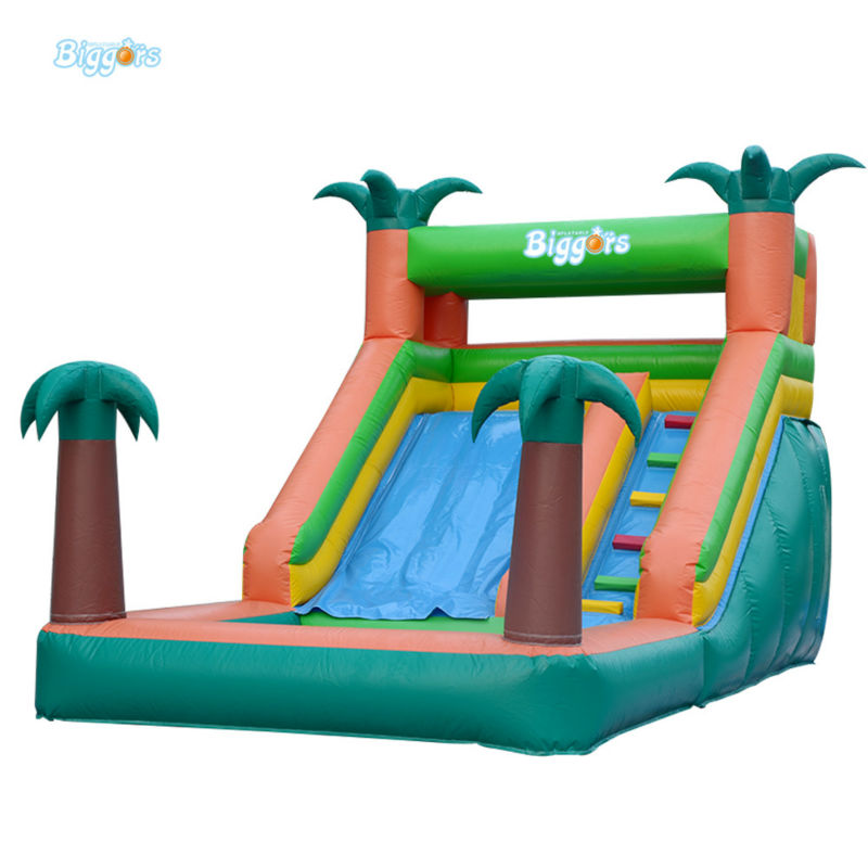 Small Size Inflatable Slide Pool With Water Tube For A Happy Summer commercial inflatable water slide with pool made of pvc tarpaulin from guangzhou inflatable manufacturer