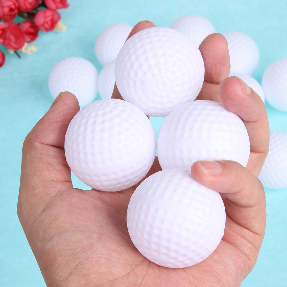 12pcs 6pcs Golf Ball Plastic Hollow Out Sports Training Tennis White Golfball Round Practice Golf Accessories for Outdoor Play image