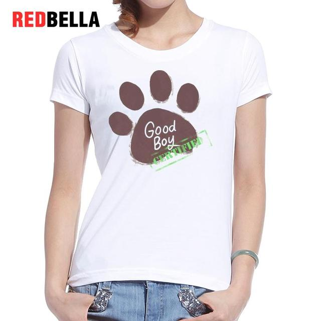 Redbella Funny Women Clothing Animal Puppy Love Dogs Paw Printing