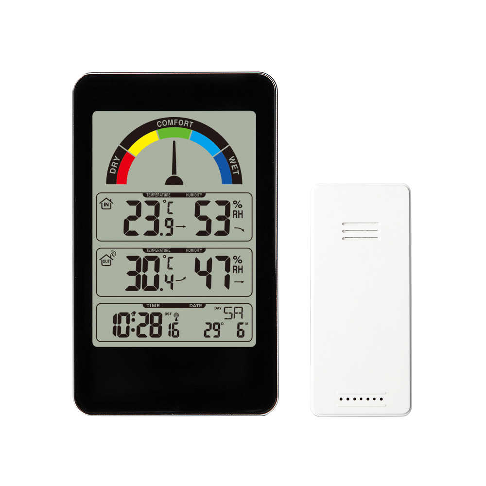 Precision Weather Forecasting Station With Baromete Temperature Humidity Wireless Outdoor Sensor Alarm and Snooze Digital Clock