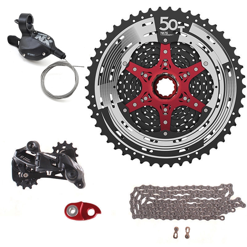 SunRace Mountain Bike Rear Derailleur Alloy Extended Link Black