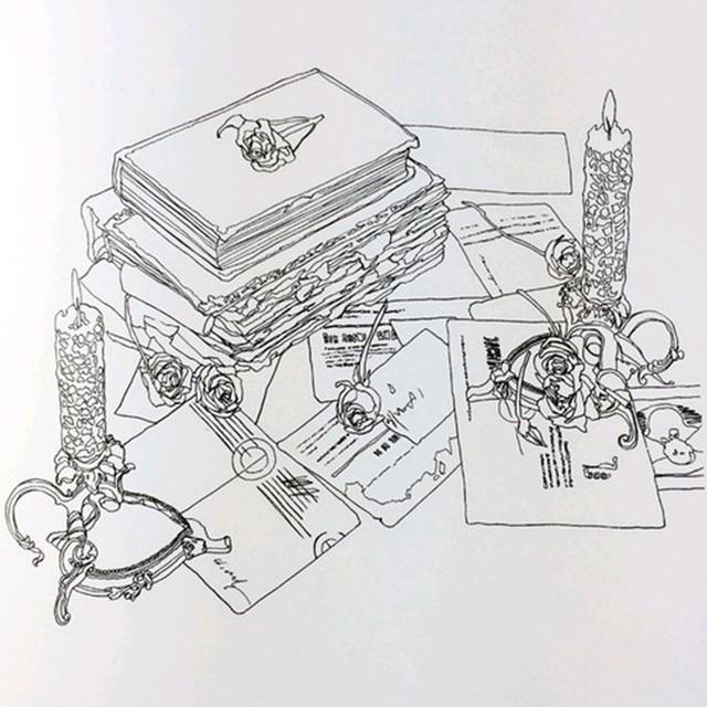Belleza y la Bestia libro para colorear para adultos mandala jardín secreto libros AntiStress arte silencioso color dibujo 25*25 cm 48 páginas