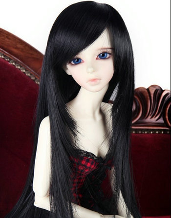 1/3 1/4 Bjd SD Doll Wig High Temperature Wire Black Colors Long Straight Beautiful BJD Super Dollfile For Doll Hair synthetic bjd wig long wavy wig hair for 1 3 24 60cm bjd sd dd luts doll dollfie cut fringe