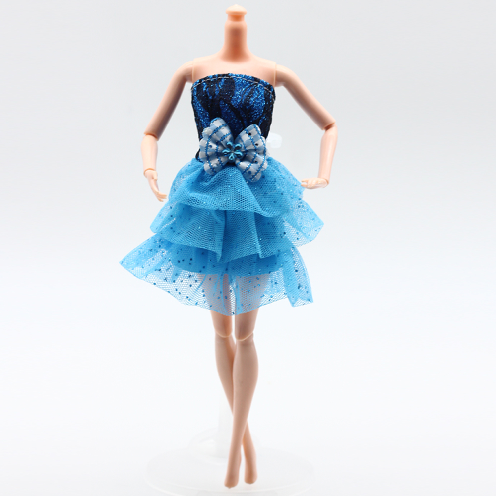 1PCS Handmade Party Blue Lace Dress For Barbie Doll Clothes Best ...