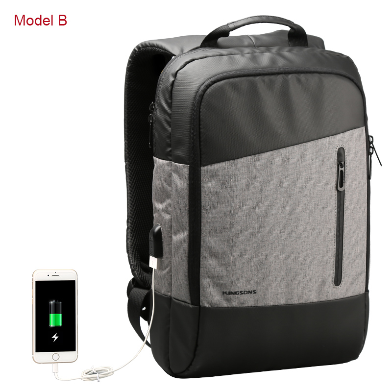 Kingsons 2018 City Style Men Backpack Casual Anti Theft Laptop Bag Fashion Backpack Male New Travel Bags Mochila Bagpack Pack kingsons 2017 new fashion laptop waterproof knapsack men women casual style travel business bag usb charger bags solid backbags