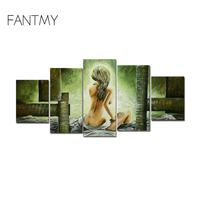 FANTMY Modern frameless Figure Painting Women Sex Hand Painted Painting Coloring By Numbers On Canvas art posters and prints