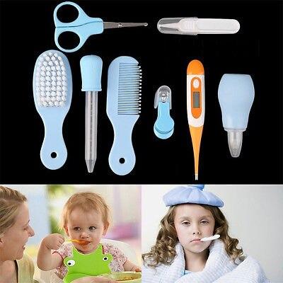 Praktisch 8 Teile/satz Kinder Neugeborenen Pflege Kit Set Baby Nagel Haar Gesundheit Pflege Körper Thermometer Kamm Pflege Kit Set Headthcare Kits Geschenke Den Speichel Auffrischen Und Bereichern Pflege Und Gesundheits-kits