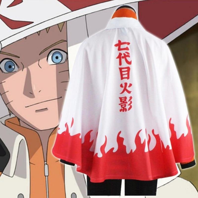Naruto Cosplay the 7th Hokage Uzumaki Naruto Ninja Costume Cosplay Cape Halloween Costume for Men S-XL