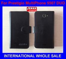 Новые Горячие! 2017 Prestigio MultiPhone 5507 DUO Case Высокое Качество Новый Оригинальный Чехол для Prestigio 5507 DUO Case отслеживая номер