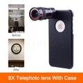 Alta Qualidade 8x Zoom Óptico Telescópio Lente Da Câmera Clipe Universal Lentes Para iphone 6 6 s 7 plus 4 4S 5 5S se casos de telefone