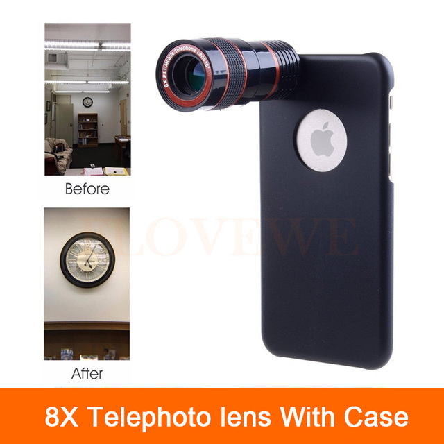 premium selection 53a72 39f43 US $7.98 |High Quality 8x Optical Zoom Lens Telescope Universal Clip Camera  Lentes For iPhone 6 6s 7 Plus 4 4s 5 5s SE Phone Cases-in Mobile Phone ...