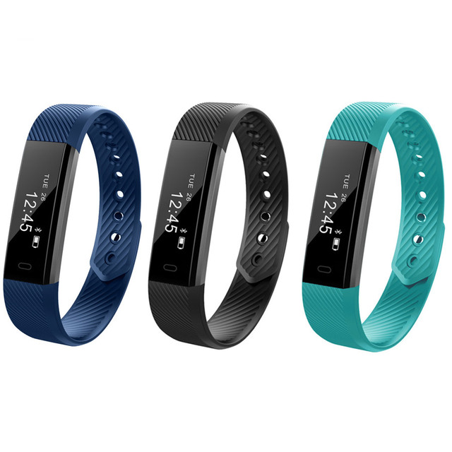 ID115 Smart Bracelet Fitness Tracker Step Counter Activity Monitor Band Alarm