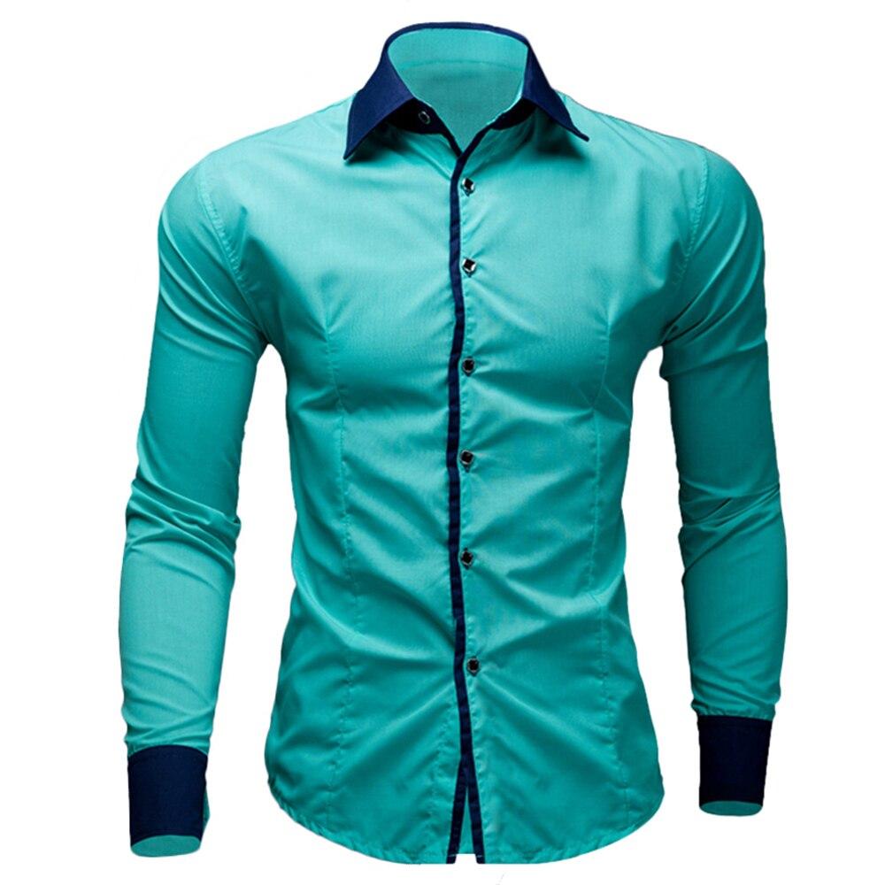 marca new mens camisas de vestido casual camisas do tipo fino