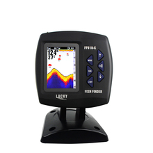 Russian Menu Color Wireless Boat Fish Finder 300m/980ft Wireless Operating Range Fishfinder LUCKY FF918-CWL2 for Boating Fishing