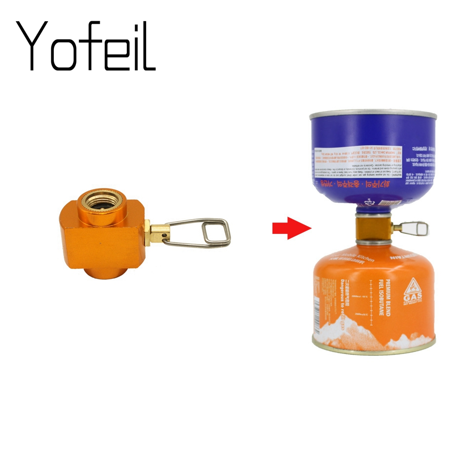 New Outdoor Camping Stove Gas Charging Conversion Furnace Connector Accessory Cartridge Tank Gas Filling Cylinder Refill Adapter