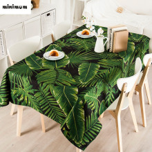 Pastoral Elegant Green plants Table cloth Cover towel tablecloth Thicker round square Coffee table tablecloth free shipping