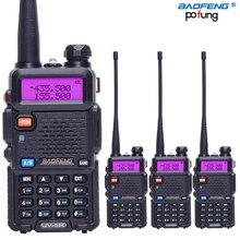4 قطعة Baofeng BF UV5R لاسلكي للهواة واكي تاكي محمول Pofung UV 5R 5 واط VHF/UHF راديو ثنائي النطاق اتجاهين راديو Uv 5r Cb راديو