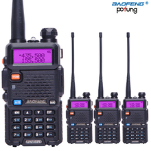Radio portátil walkie talkie Pofung BF UV5R 5W VHF/UHF Radio de dos vías Radio Uv 5r Cb 4 Uds Baofeng UV 5R