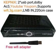 5 unids KEPNIX Receptor de Satélite + WIFI adaptador 1080 P Ccam Apoyo wifi 3g youporn DVB-S2 receptor de satelite powervu