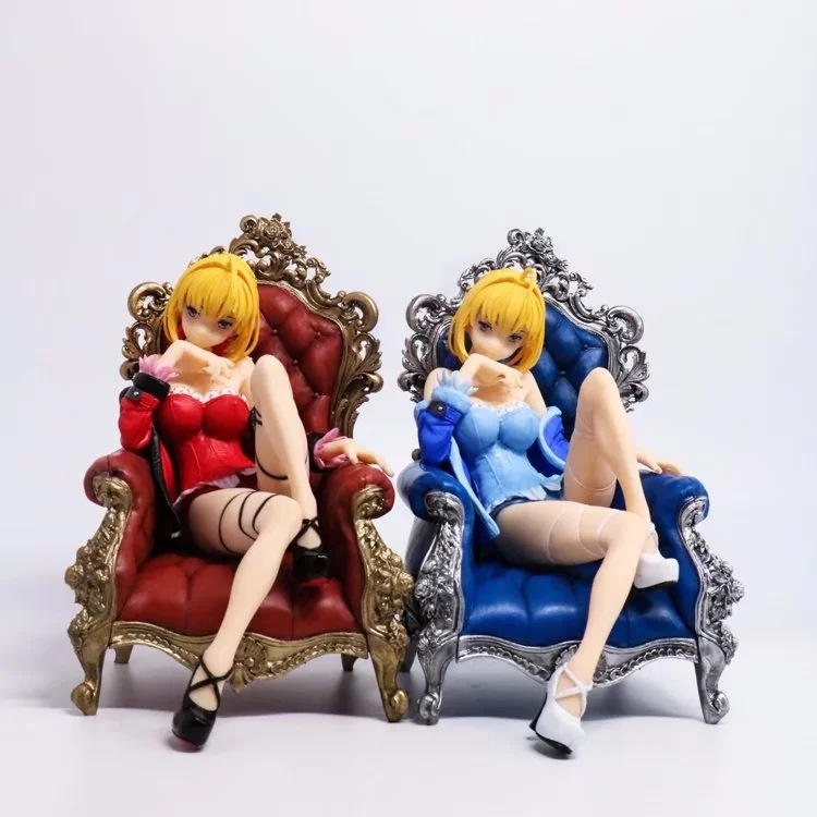 Fate Stay Night Nightclothes Ver. Saber Action Figure Sitting Ver. Nero Saber PVC figure Toys fate stay night fate extra red saber pvc figure toy anime collection new
