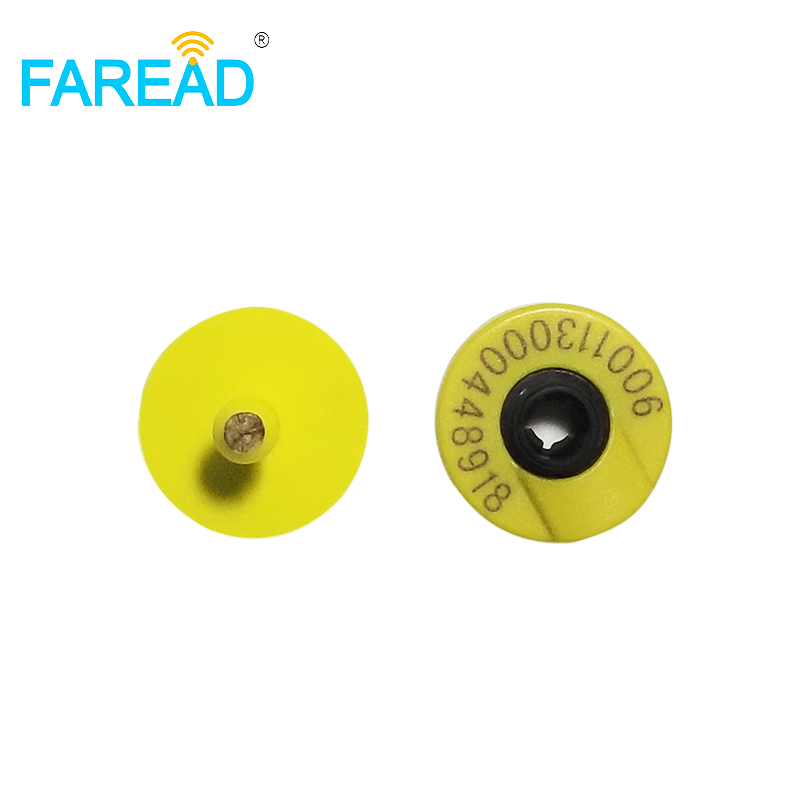 X150pcs ISO11784/85 Round Male Tag FDX-B Ear Tag For Animal Livestock Management