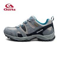 New Clorts 2015 Men Women Hiking Shoes Suede Mesh Climbing Shoes Waterproof Men Shoes Breathable Outdoor