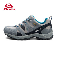 New Clorts 2015 Men Women Hiking Shoes Suede Mesh Climbing Shoes Waterproof Men Shoes Breathable Outdoor