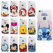Disney Flavour Cartoon Soft Case For Apple iPhone 4 5 6 7 S Plus SE 5C Samsung Characters Back Cover Skin