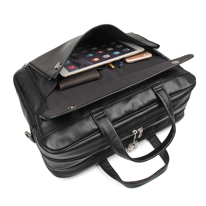 9dd4b0d94a70 Classic Real Leather Laptop Messenger Bag Office Briefcases College Bag fit  For 17 Inches Laptop. 7383A 7383A-(1) 7383A-(6) 7383A-(8) 7383A-(7) ...