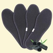 Антибактериальные подушечки для походов из шелка и ледяного волокна, стельки для обуви, стельки для улицы, дезодорант, унисекс, бамбуковый уголь, дышащие спортивные подушечки для ухода за ногами