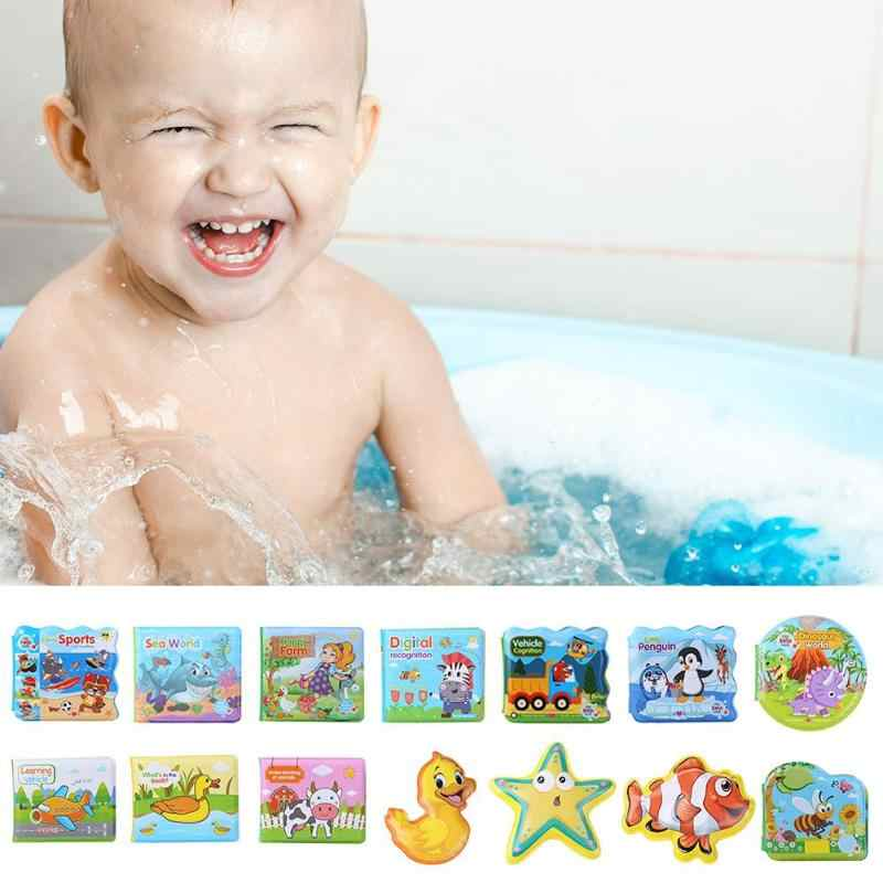 Tearing Resistance Baby Bath Book Cognitive Floating Educational Games Toy Gifts Waterproof Bath Book for Kid Early Education