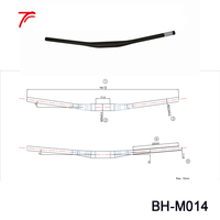 1 Piece Carbon Handlebars Mtb 10mm Riser 35mm Mountain Bike Parts Handle Bar BH M014