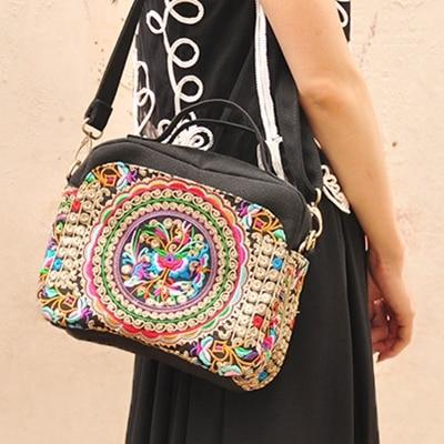 Ethnic Bag 2018 New Embroidery Bags Handmade Canvas Vintage Boho Dslr Camera For Women Bolsos Etnicos Bordados In Top Handle From