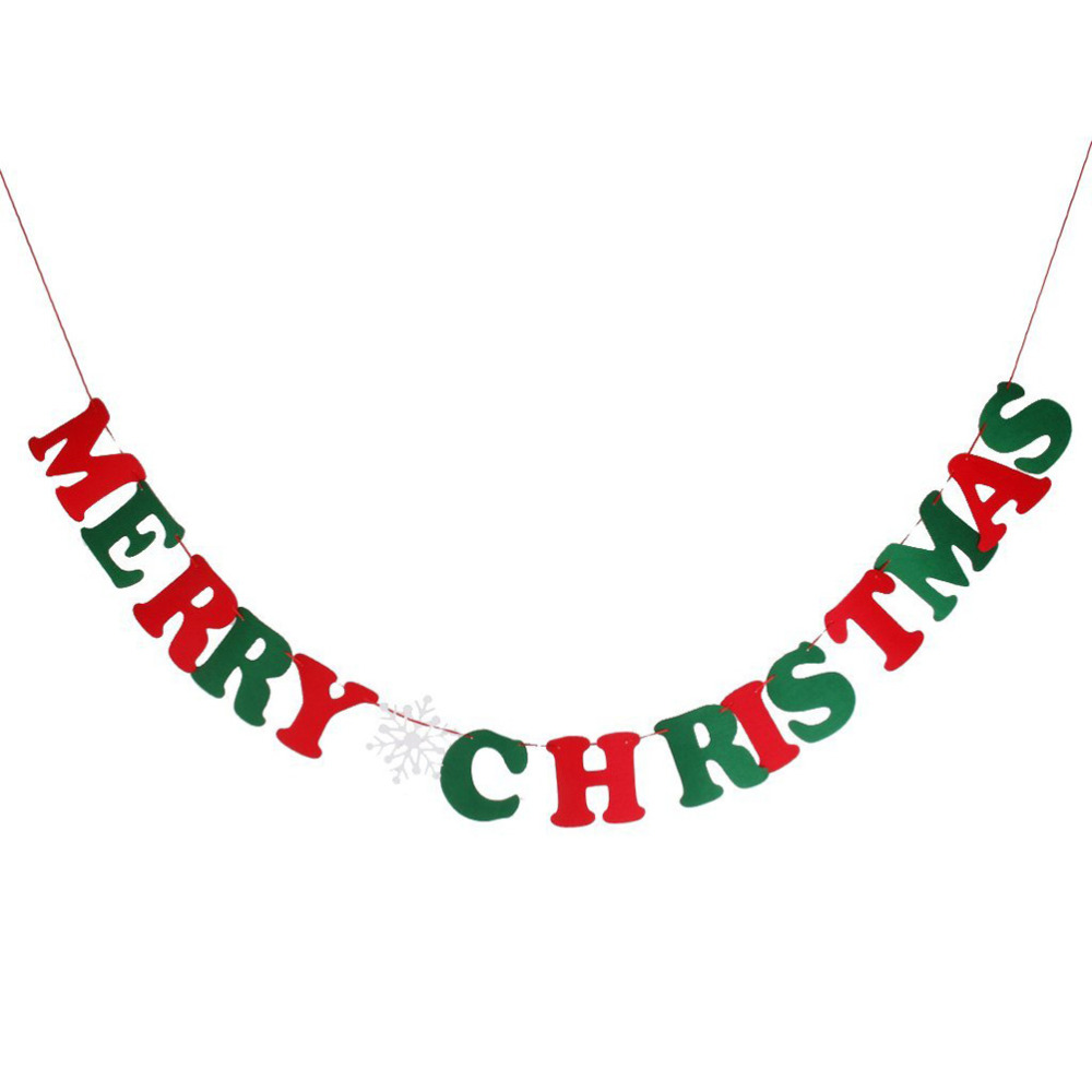 merry christmas garland banner christmas decoration party favor supplies in christmas from home garden on aliexpresscom alibaba group