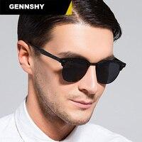2018 Half Metal Polarized Sunglasses Men Women Small Square Nails Sunglasses Polaroid Retro Brand Designer Wayfaring