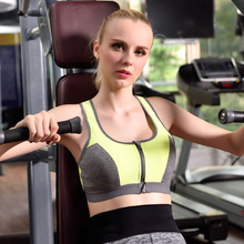 Brand YCCRG New Women Sports Bra Push Up Top Shockproof Professional Vest Fitness Running Vest Gym healthy orange blue soft bra