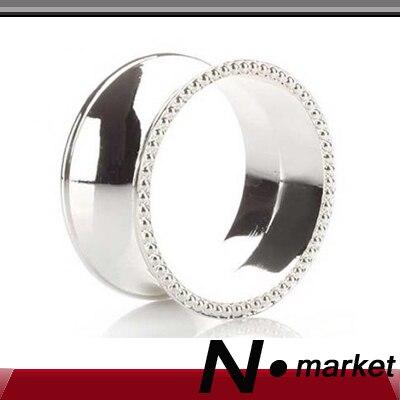 Velkoobchod 100ks 50g vysoce kvalitní slitiny kruhové zlaté stříbrné ubrousky kroužky pro svatby vysoce kvalitní ubrousek držák