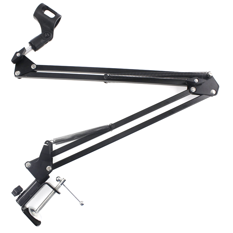 New NB-35 Professional Assembled Microphone Stand Arm Holder Microphone Handle With Microphone Clip Table Mounting Clamp