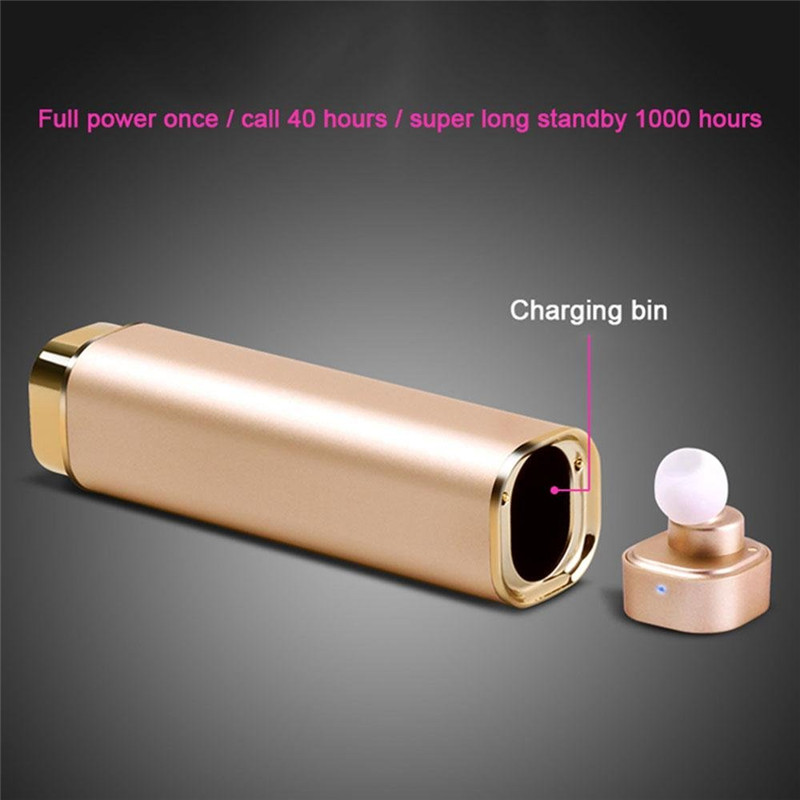 New Wireless Mini Bluetooth Earphone Car Drive Handsfree With Power Bank MIC Earbuds In Ear Headset Music Stereo For iphone HTC hlton portable wireless bluetooth earphone handsfree mini headset stereo earbuds car fast charger with mic for smartphone pc