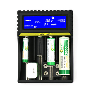Image 3 - 4 slot de carregador de bateria 3.7V Li ion Vida 3.2V Ni MH Ni CD Inteligente rápido LCD 6F22 9V AAA AA 16340 14500 18650 Carregador de Bateria