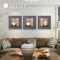 Модульные Стены Картины ваза декоративная расписанную фотографии для Гостиная на стене