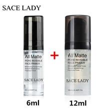 SACE LADY, 6 мл+ 12 мл, косметический крем для лица, основа для лица, УВЛАЖНЯЮЩАЯ основа для макияжа, жидкая, натуральная, стойкая, Обнаженная основа, TSLM1