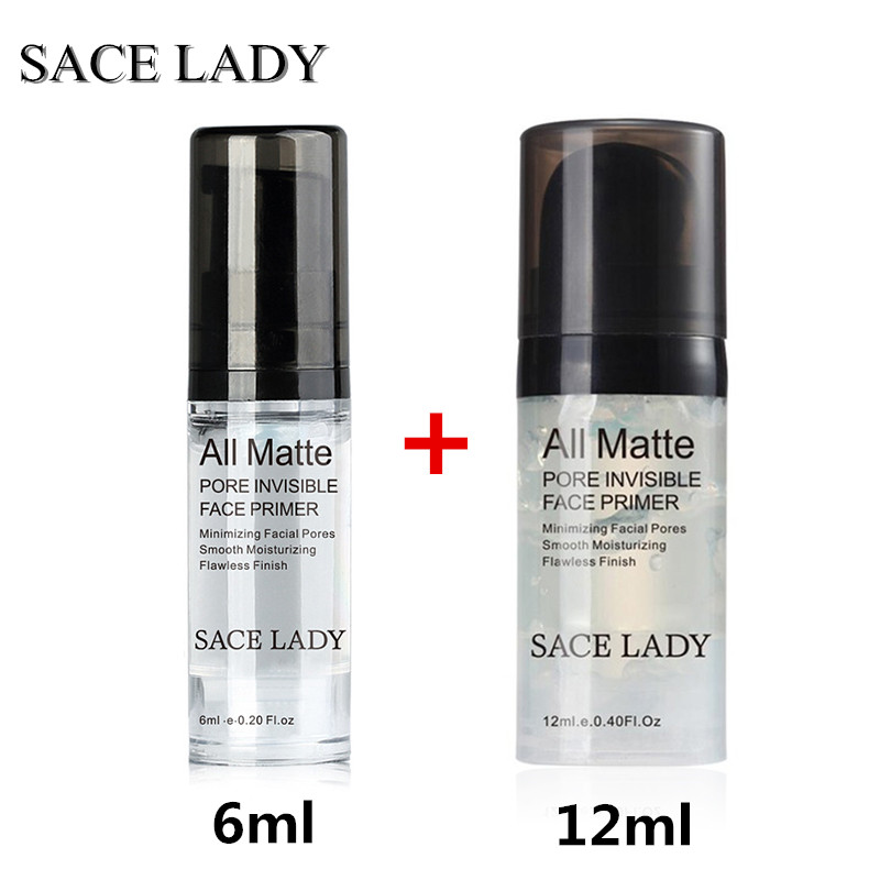 SACE LADY 6ml+12ml Cosmetic Facial Cream Face Base Hydrating Makeup Primer Liquid Natural Long Lasting Nude Foundation TSLM1